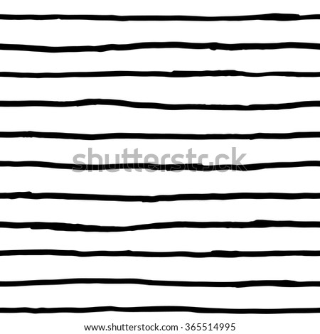 Seamless pattern - ink horizontal lines - stock vector