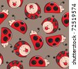 Seamless pattern - Ladybugs - stock vector
