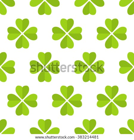 Seamless pattern made from cloverleaf - stock vector