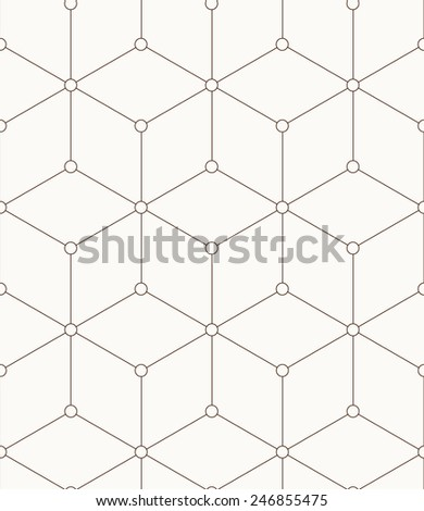 Seamless pattern made from squares - stock vector