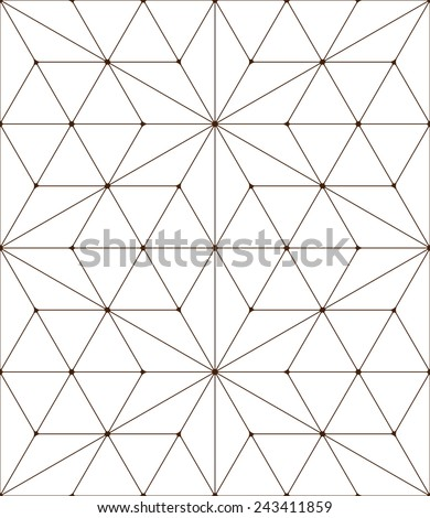 Seamless pattern made from triangles - stock vector
