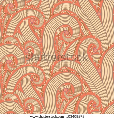 Seamless pattern made of curly elements - stock vector