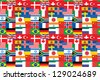 seamless pattern made of flags - stock vector