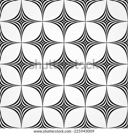 Seamless pattern made of spiky, pointed shapes - stock vector