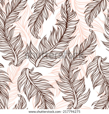 Seamless pattern made pretty vintage feather.