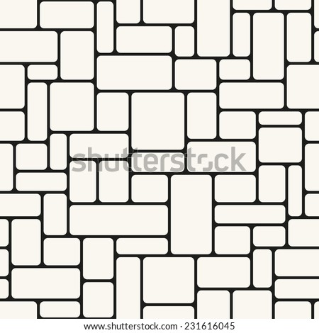 Seamless pattern. Mesh repeating texture. Linear grid with right smooth angles - stock vector