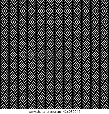 Seamless pattern. Modern stylish geometric texture. Regularly repeating tiles with rhombuses, diamonds. Vector element of graphic design - stock vector