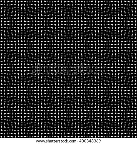 Seamless pattern. Modern stylish texture. Regularly repeating geometrical tiles with dotted corner rhombus, diamond. Vector element of graphical design - stock vector