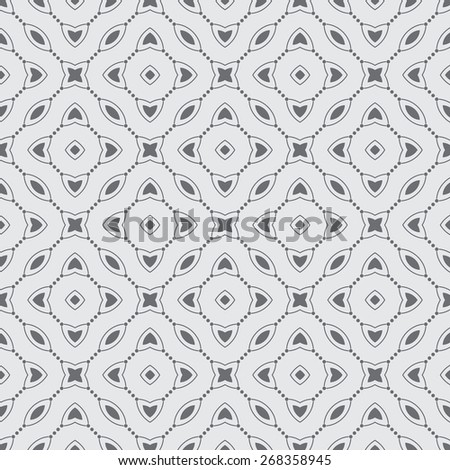 Seamless pattern. Modern stylish texture with repeating geometrical shapes. Rhombuses, ovals, dots, stars, ellipses. Monochrome. Backdrop. Web. Vector illustration for your design - stock vector