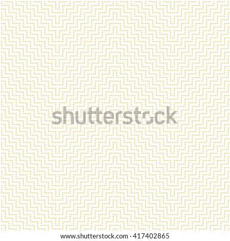Seamless pattern. Modern stylish texture with small dots. Regularly repeating geometrical ornament with dotted zigzag lines. Vector element of graphical design - stock vector