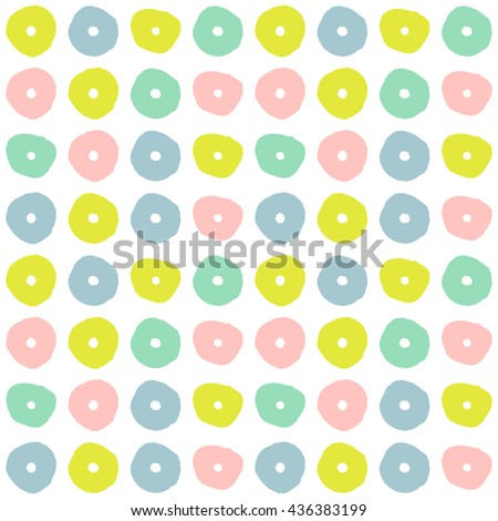 Seamless pattern multicolored stylized flowers. Seamless positive colorful background for girls with abstract flowers. Universal cute backdrop with creative abstract bright flowers Vector illustration - stock vector