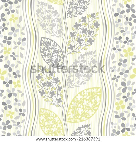 Seamless pattern of abstract blooming branches. - stock vector