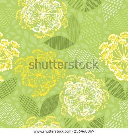 Seamless pattern of abstract flowers. - stock vector