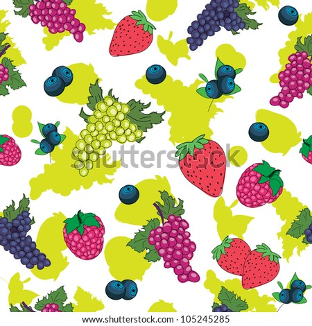 seamless pattern of berry - stock vector