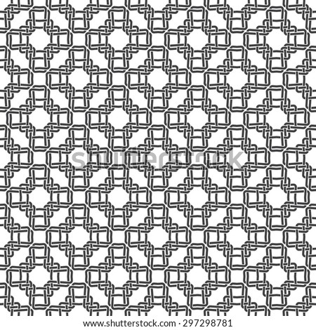 Seamless pattern of braided crosses with swatch for filling. Celtic ornament texture. Fashion geometric background for web or printing design. - stock vector