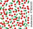 seamless pattern of cherries - stock vector
