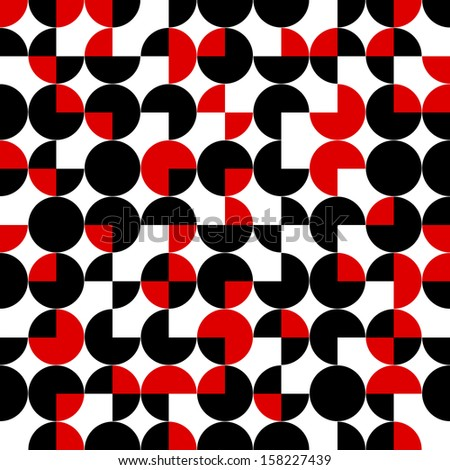 seamless pattern of circles.abstract geometric background.vector - stock vector