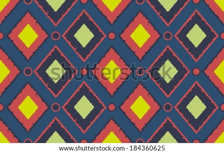 Seamless pattern of colorful lozenges vector