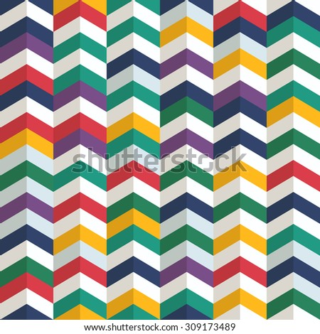 Seamless pattern of different figures. Abstract seamless colorful background - stock vector