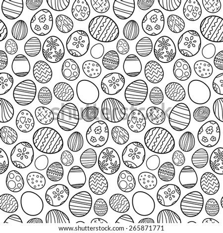 Seamless pattern of Easter eggs - stock vector