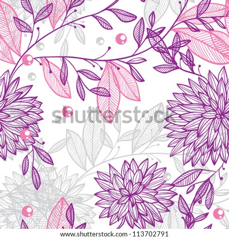 seamless pattern of fantastic flowers - stock vector