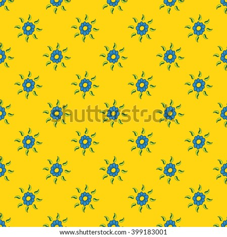 Seamless pattern of flowers, spring, summer floral motif.