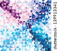 Seamless pattern of geometric shapes. Colorful mosaic banner. Geometric triangle vector hipster background. - stock vector