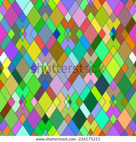 Seamless pattern of geometric shapes. Multicolored rhombuses. Geometric background. - stock vector