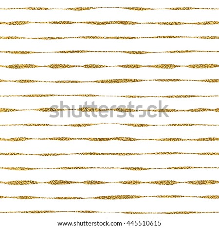 Seamless pattern of golden shiny lines, seamless background grunge gold glitter stripes, hand drawn vector pattern for textile, wallpaper, web, wrapping, invitation, wedding, card, paper