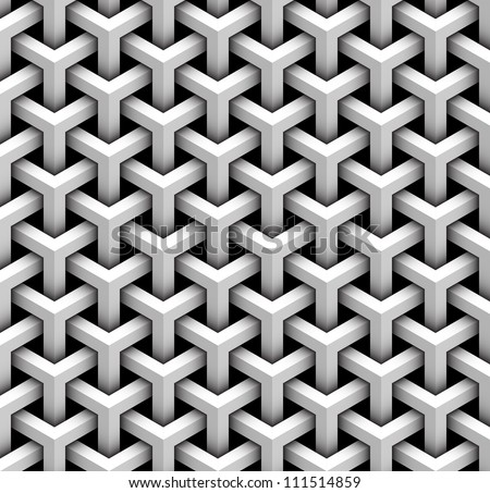 seamless pattern of gray blocks - stock vector