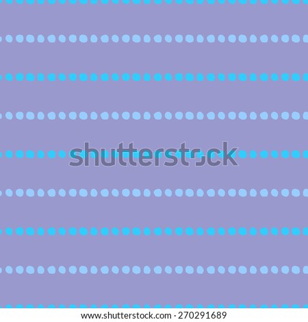 Seamless pattern of hand-drawn circles of light blue and purple circles on a pale purple background - stock vector