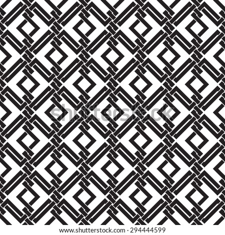 Seamless pattern of intersecting corners with swatch for filling. Celtic chain mail. Fashion geometric background for web or printing design. - stock vector