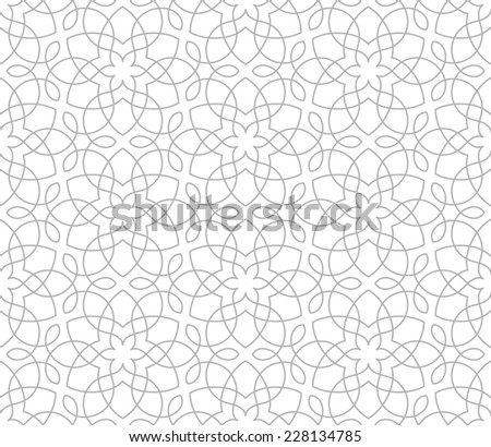 Seamless pattern of intersecting gray lines on white a background. Abstract Vector Illustration.