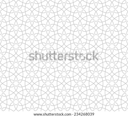Seamless pattern of intersecting thin grey lines on a white background. Abstract Vector Illustration.  - stock vector
