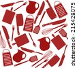 Seamless pattern of kitchen tools, vector illustration - stock photo