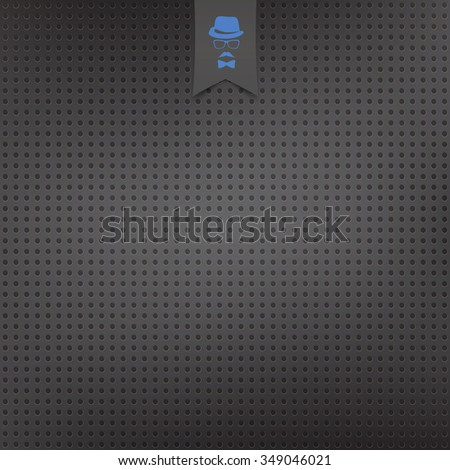 seamless pattern of perforated metallic surface. vector industrial background. black speaker grill texture - stock vector