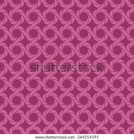 Seamless pattern of pink circles with the effect of optical illusions - stock vector