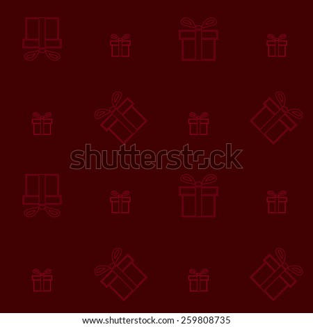 Seamless pattern of present box. Vector illustration - stock vector