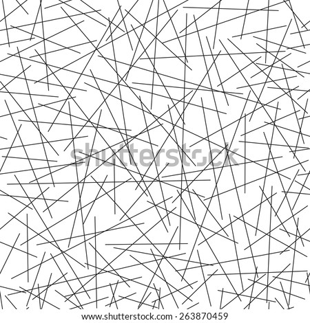 Seamless pattern of random lines, vector illustration