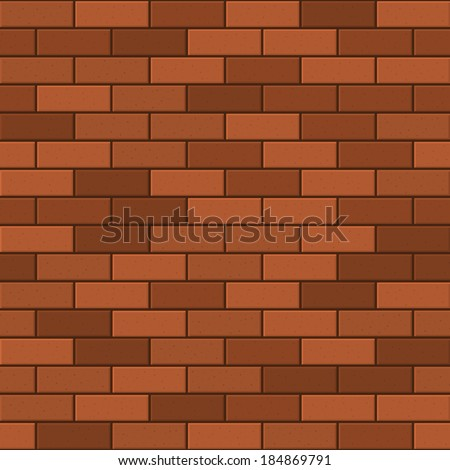 Seamless Pattern of Red Brick. Vector - stock vector