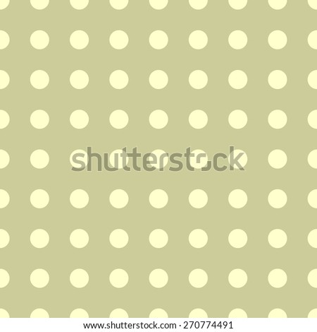 Seamless pattern of repeating the great circle on a light background of pale mustard yellow circles - stock vector