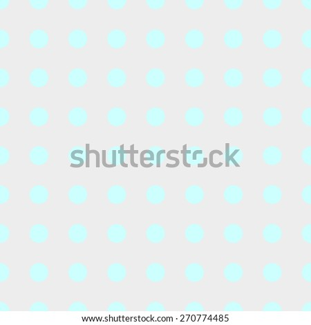 Seamless pattern of repeating the great circle on a pale gray background azure blue circles - stock vector