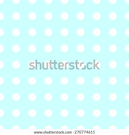 Seamless pattern of repeating the great circle on the azure blue background white - stock vector