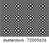 Seamless pattern of spots, 70's style - stock vector