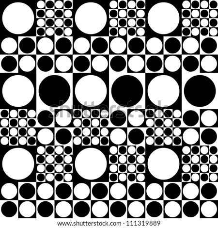 Seamless pattern of spots 70's style - stock vector