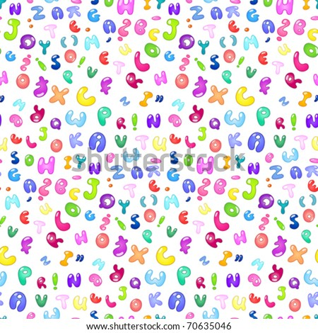Seamless pattern of the abc bubble letters - stock vector