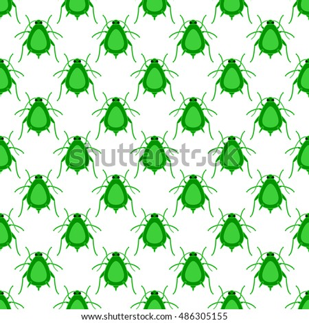 Seamless pattern of the greenfly insects