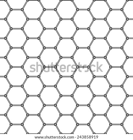 Seamless pattern of the hexagonal mosaic - stock vector