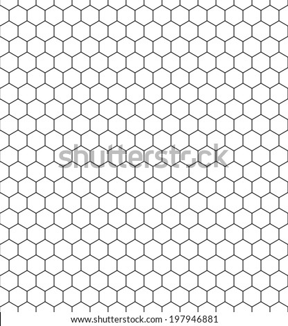 Seamless pattern of the hexagonal net - stock vector