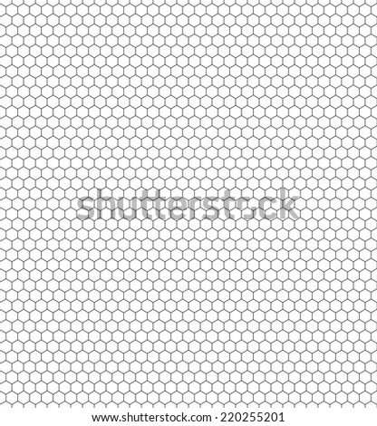 Seamless pattern of the hexagonal netting - stock vector